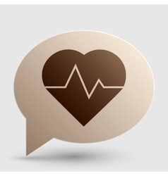 Heartbeat sign  brown gradient icon vector