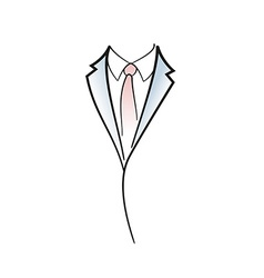 Drawing symbol aof man elegant suit vector