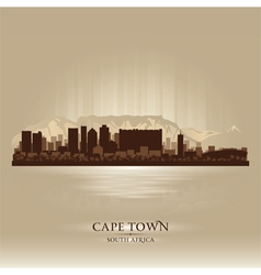 Cape Town South Africa skyline city silhouette vector image