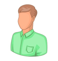 Young man with haircut avatar icon cartoon style vector