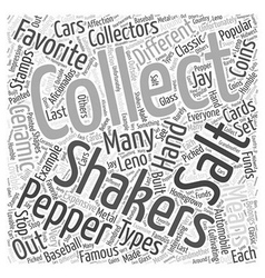Salt and pepper shakers word cloud concept vector