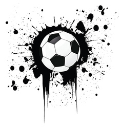 Football grunge vector image