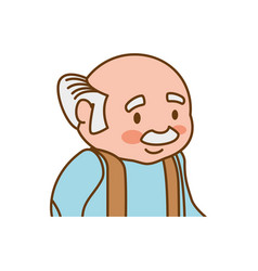 adult male avatar elder vector image