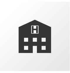 Hospital icon symbol premium quality isolated vector