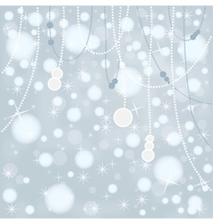 Snow bokeh background vector
