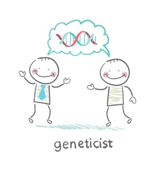 Genetics say about the formula genes vector