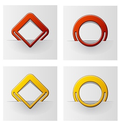 Red and yellow attached frames vector