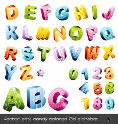 3d alphabet vector