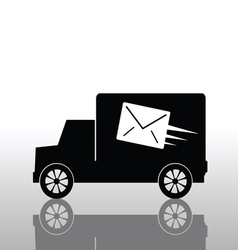 truck with a letter envelope vector image