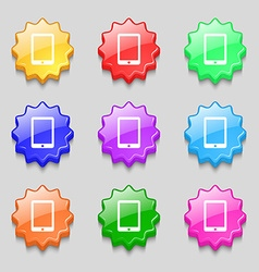 Smartphone sign icon support symbol call center vector