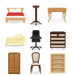 Set icons furniture 04 vector