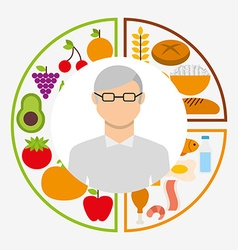 Nutrition and health design vector