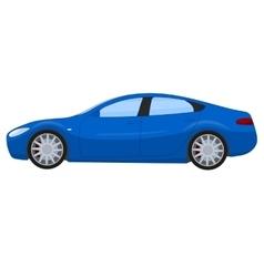 Blue sports sedan vector image