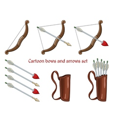 Cartoon bows and arrows vector