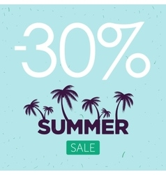Summer sale banner palm silhouette and vector
