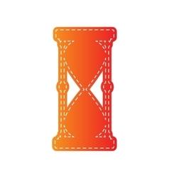Hourglass sign orange applique vector