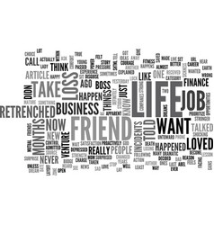 A lesson of life from a friend text word cloud vector