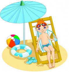 beach boy vector image vector image