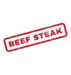 Beef steak text rubber stamp vector