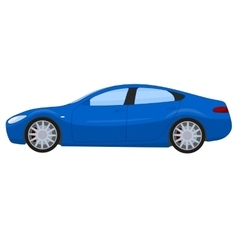 Blue sports sedan vector image