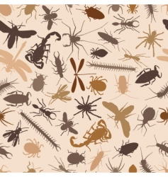 bugs seamless tile vector image vector image