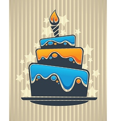 cake card vector image vector image