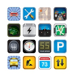 car signs and icons vector image vector image