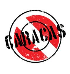 Caracas rubber stamp vector