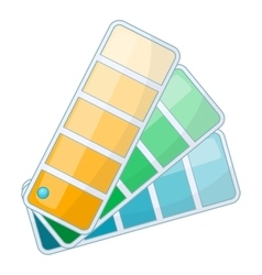 Color swatch icon cartoon style vector
