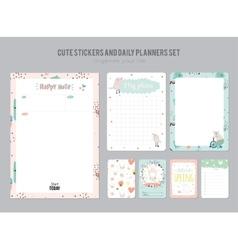 Cute Daily Calendar Template vector image