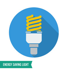 Energy saving light fluorescent light bulb vector