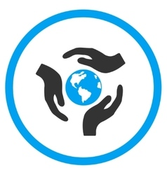 Global Care Icon vector image vector image