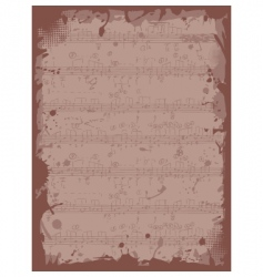 grunge frame with musical notes vector image