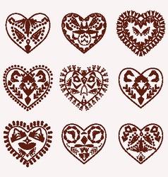 hearts pattern tattoo romantic Hearts vector image vector image