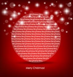 Merry Christmas card with Christmas ball vector image