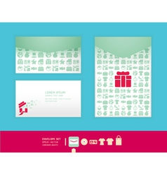 Modern soft color envelope design vector image vector image