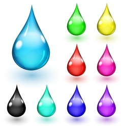 Multicolored drops vector image