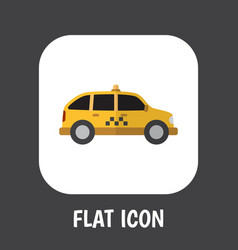 of automobile symbol on taxi vector image