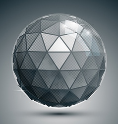 Plastic pixel dimensional sphere synthetic dotted vector