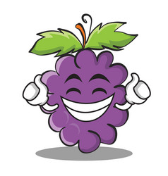 Proud grape character cartoon collection vector