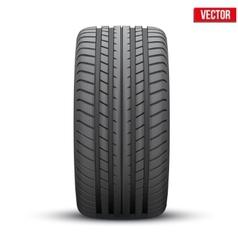 Realistic rubber tire symbol vector image vector image