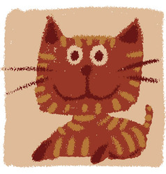 Rude cat vector