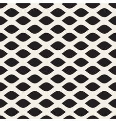 Seamless Black and White Leaf Shape Pattern vector image vector image
