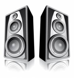 speakers on white background vector image vector image