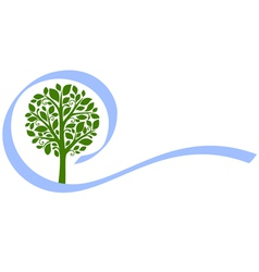 tree emblem 5 isolated on white vector image vector image