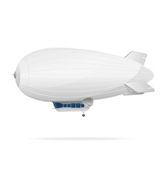 White dirigible balloon on a white background vector
