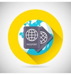 World Trip Symbol International Passport Earth vector image