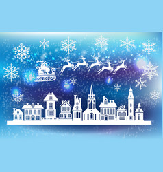 xmas decoration for window vector image vector image