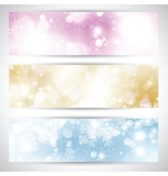 Christmas lights banners 2111 vector