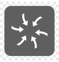 Twirl arrows rounded square button vector